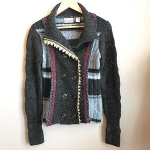 BKE Gimmicks Patchwork Cardigan